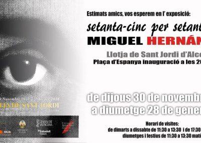 Exposición Setanta-cinc per Setanta-cinc A MIGUEL HERNANDEZ