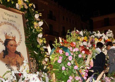 Ofrenda flores a la Virgen de los Lirios 2018