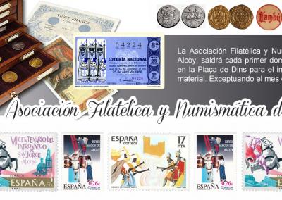 Salida de la Asociación filatélica y numismática de Alcoy – Plaça de Dins