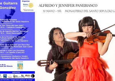 "2º FESTIVAL DE GUITARRA ""JOSÉ LUIS GONZÁLEZ"". ALFREDO Y JENNIFER PANEBIANCO"