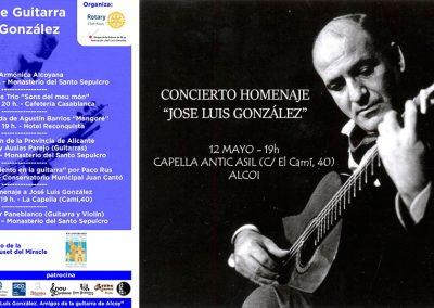 """2º FESTIVAL DE GUITARRA """"JOSÉ LUIS GONZÁLEZ"""". HOMENAJE A JOSE LUIS GONZALEZ"""