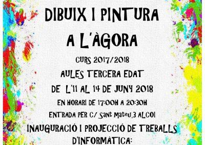 Exposición Dibujo y Pintura en Ágora. Curso 2017/2018