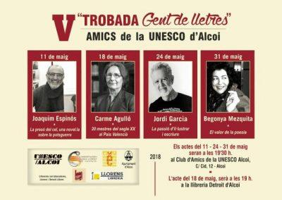 V Trobada Gent de Lletres – Amics de l'Unesco d'Alcoi