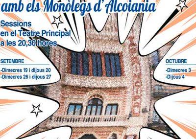 MONÒLEGS D'ALCOIANIA. 27 de Septiembre 2018