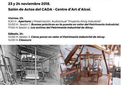 """Jornadas Alcoy Industrial 2018: """"Cómo poner en valor el Patrimonio Industrial"""""""