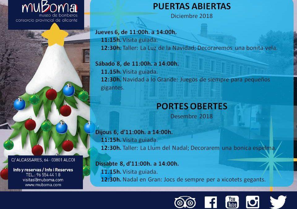 Puertas abiertas en el MuBoma: Navidad a lo Grande – 8 de diciembre