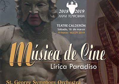 MÚSICA DE CINE (II Edición) LÍRICA PARADISO.