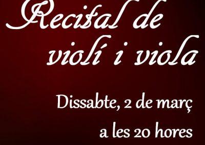 RECITAL DE VIOLÍ I VIOLA