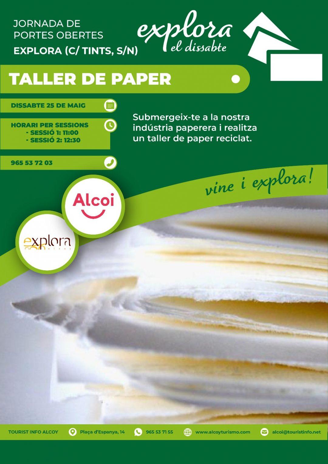 Explora el dissabte: Taller de papel