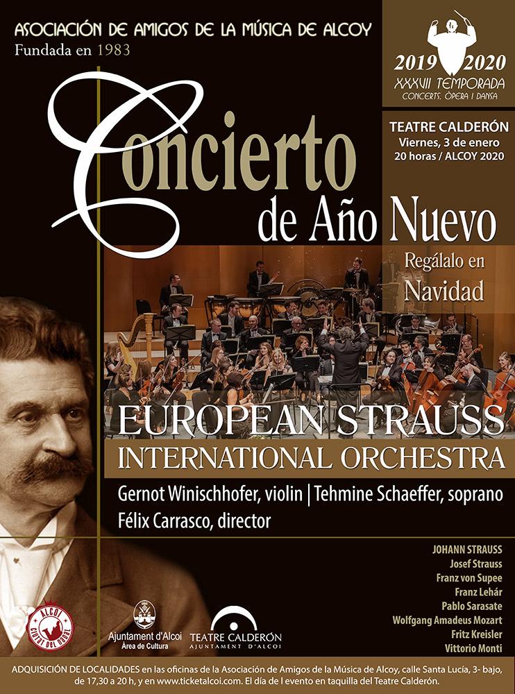 CONCIERTO DE AÑO NUEVO. European Strauss International Symphony Orchestra.