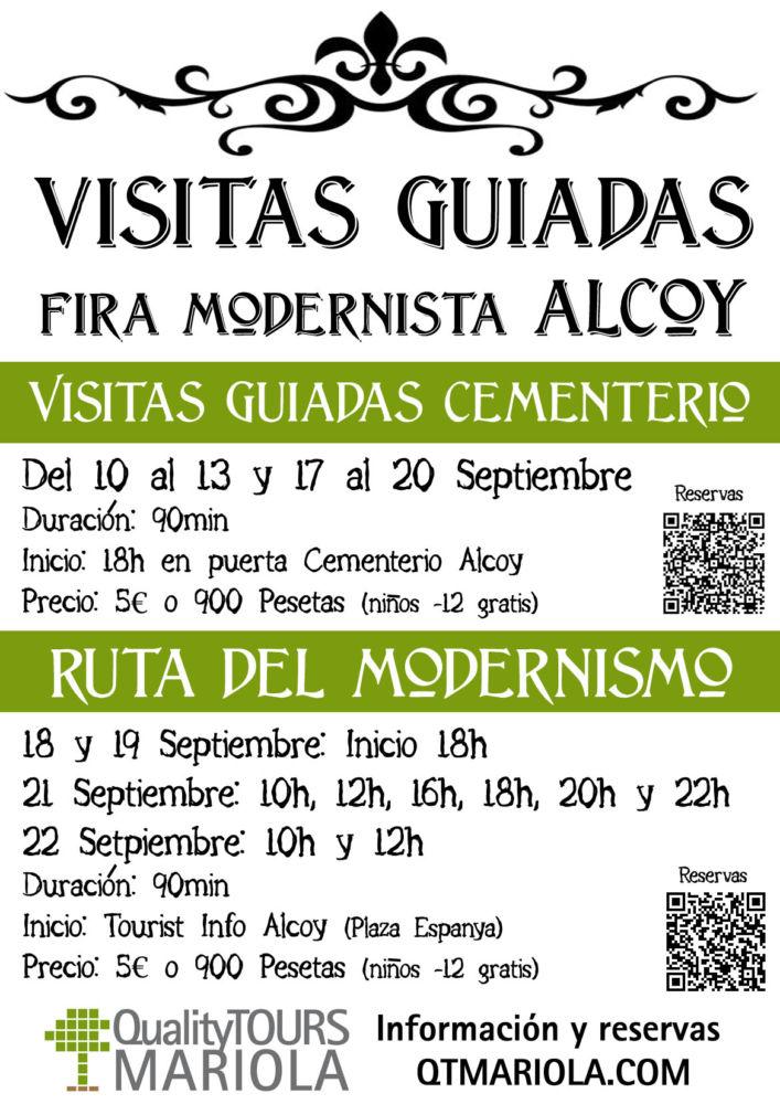 "Visitas guiadas Cementerio Monumental Alcoi ""Semana del Modernismo"""