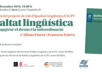 """Presentació """"Projecte de Llei d'Igualtat Lingüística"""""""