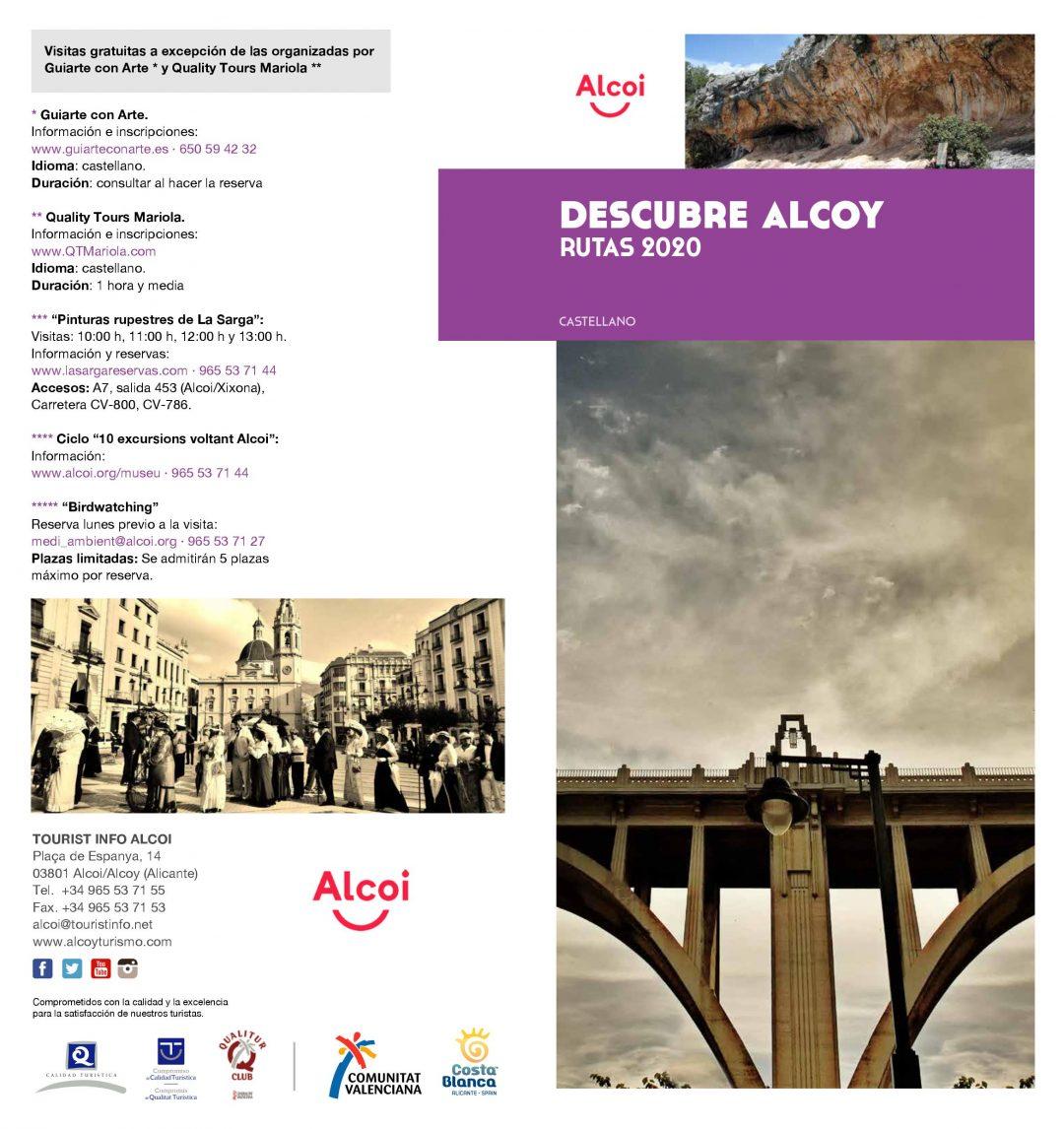 Descubre Alcoy. Rutas 2020.