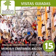 Visitas guiadas programadas Alcoy Moros y Cristianos 4, 11 y 18 abril 2020