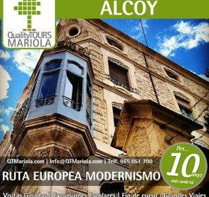 Visitas guiadas Alcoy 26 y 27 Septiembre 2020 Feria del Modernismo