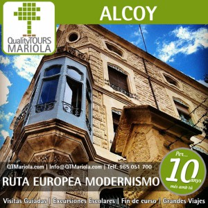 Visita guiada Ruta Modernismo Alcoy  11 Julio 2020