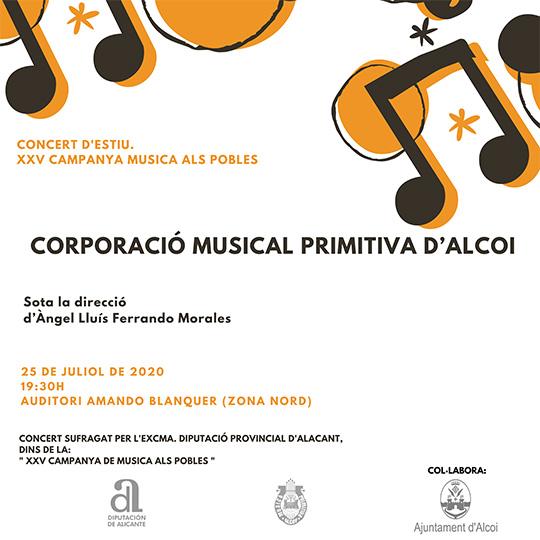 Concert d'Estiu – CORPORACIÓ MUSICAL PRIMITIVA D'ALCOI