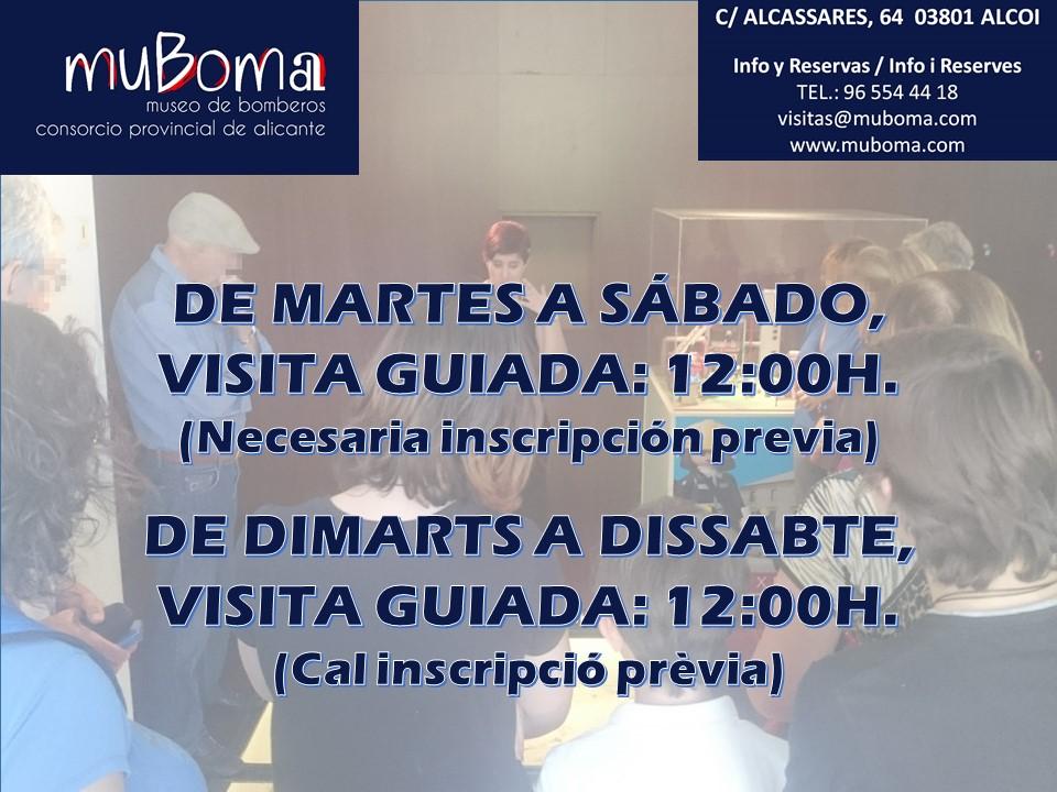 12:00 Visita guiada en el MuBoma