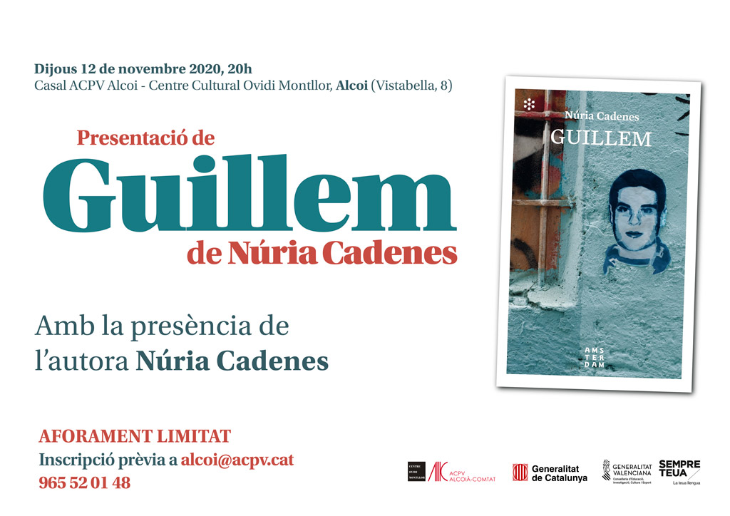 """Presentación del libro: """"Guillem"""" de Núria Cadenes"""