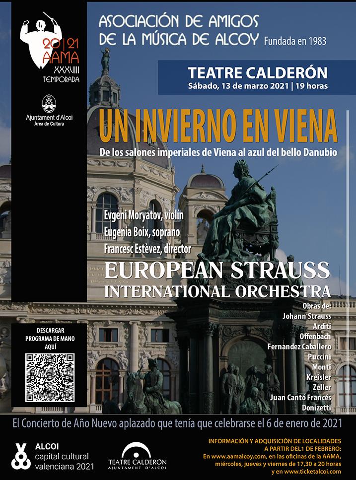 EUROPEAN STRAUSS INTERNATIONAL ORCHESTRA: UN INVIERNO EN VIENA