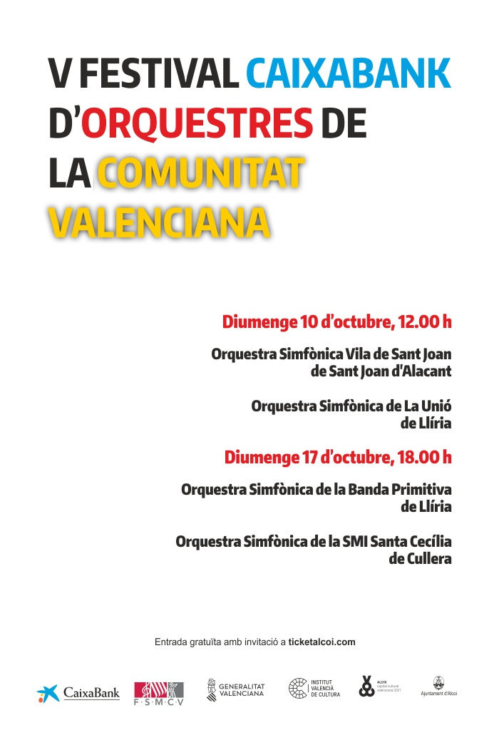 V FESTIVAL CAIXABANK D'ORQUESTRES DE LA COMUNITAT VALENCIANA 1