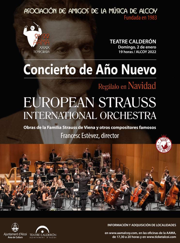 CONCIERTO DE AÑO NUEVO 2022. European Strauss International Orchestra.